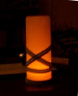 diy rice paper candle