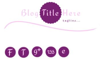 Blog Freebie | Feminine Header & Social Media Icons