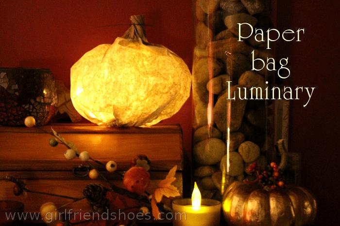 paper bag luminary