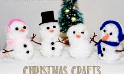 Holiday Crafts – Pom Pom Snowman
