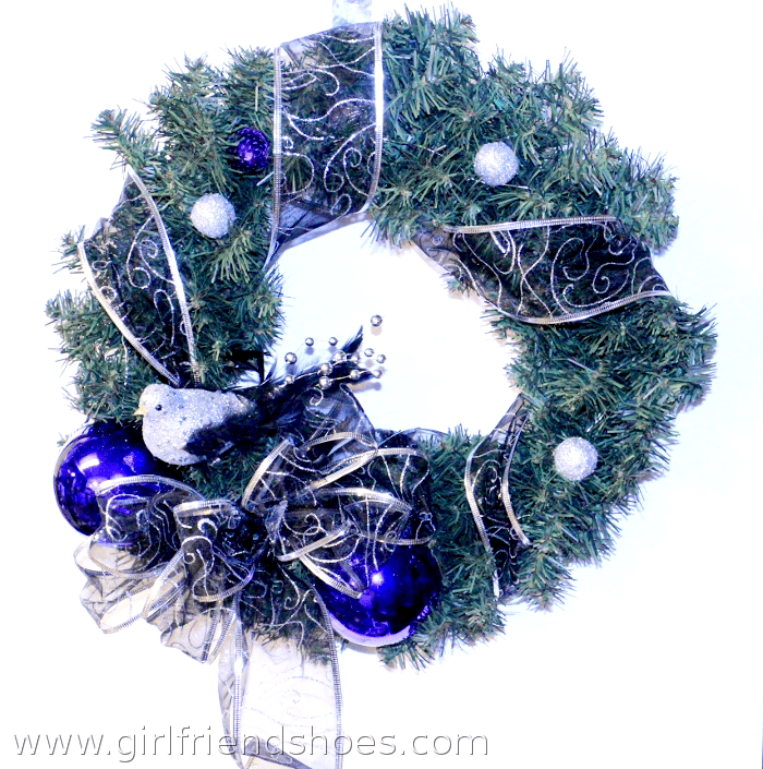 purple wreath christmas
