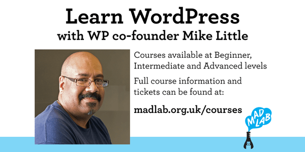Review of the WordPress for Beginners Course at MadLab