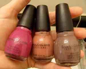 My version of a Pumpkin Spice Latte: Fall nail polish colors.