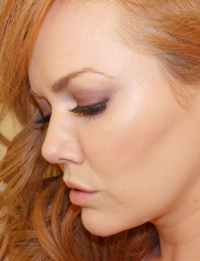 Close up of the eyes, done with the Lorac Unzipped palette.
