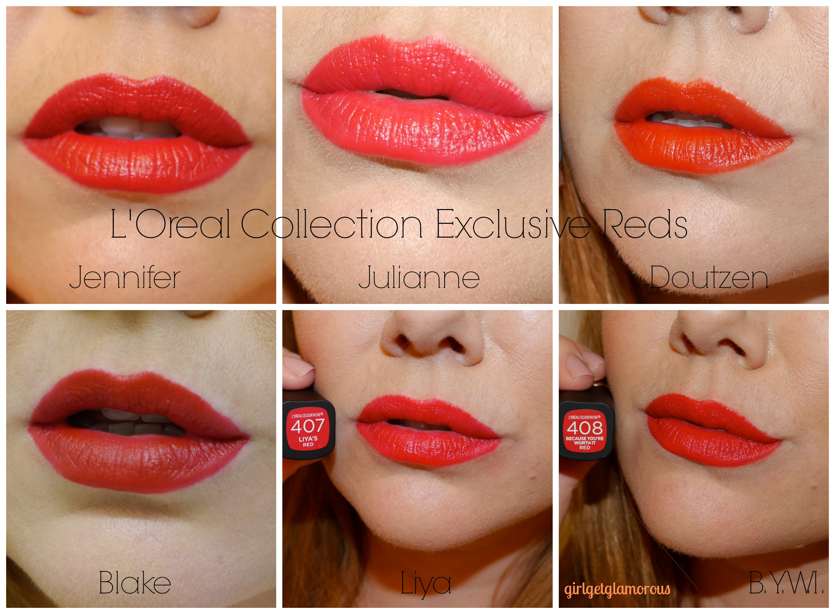 loreal collection exclusive 2015 red lipsticks polishes