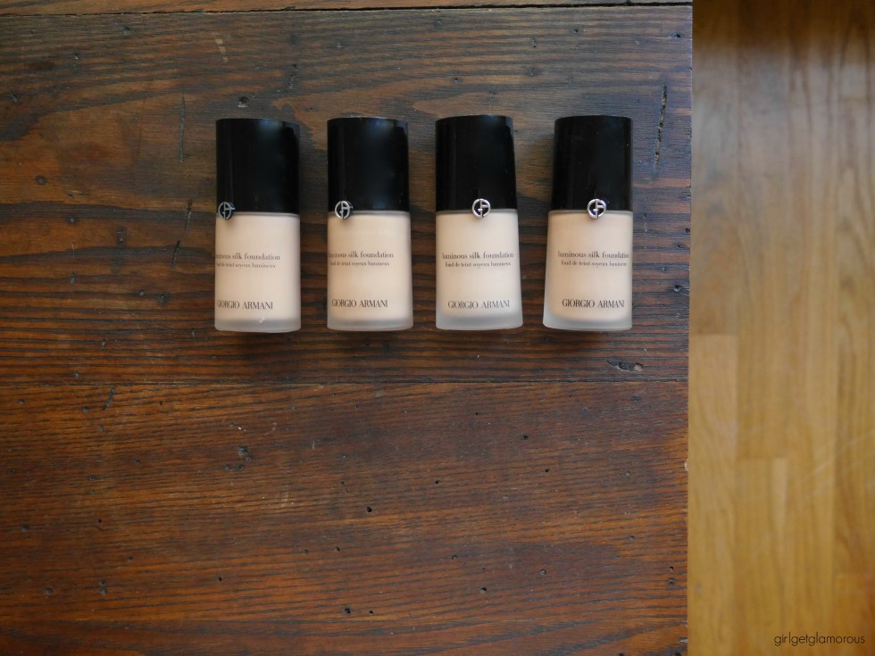 armani luminious silk foundation swatches