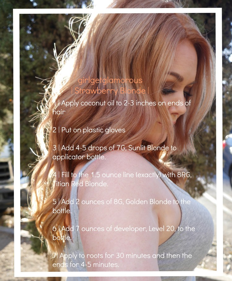 strawberrry blonde hair at home diy inspo formula girl get glamorous hair