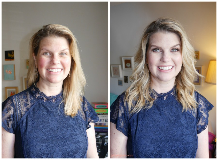 friend ship friday makeup before and after glam hair