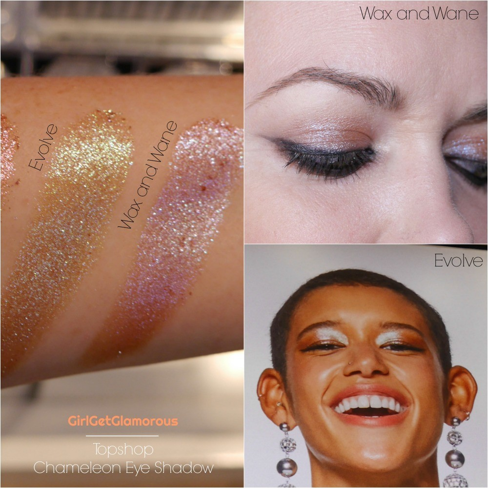 topshop chameleon eye shadows wax and wane evolve swatch swatches demo review