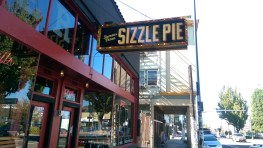 Lunch the next day was at Sizzle Pie in Burnside. They sell by the slice for omnis, vegetarians and vegans.