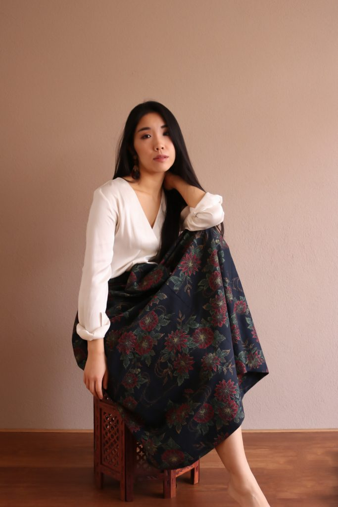 Tsubaki Vintage Kimono Skirt - Girl Gone Authentic