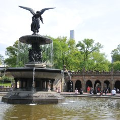 Bethesda Fountain with Bethesda Terrace in the background