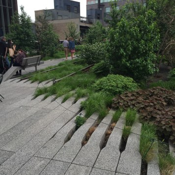 Some of the historic rails still part of The High Line
