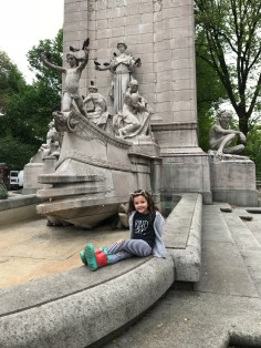 Fountain near Columbus Circle