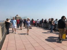 The upper observation deck of Top of the Rock