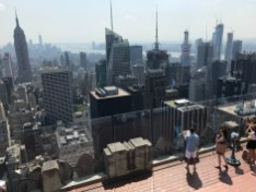 The view from the upper observation deck of Top of the Rock