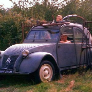 Citroen 2CV with Dad crop