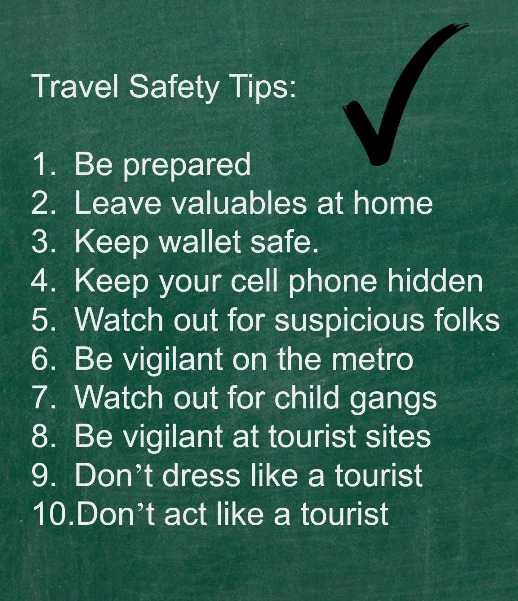 Tourist Safety Tips - PARIS Version