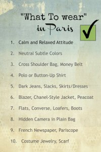 What NOT to Wear  Paris