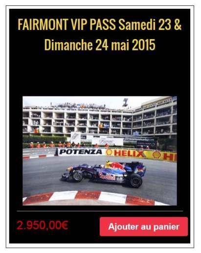 Monaco Grand Prix - VIP Pass