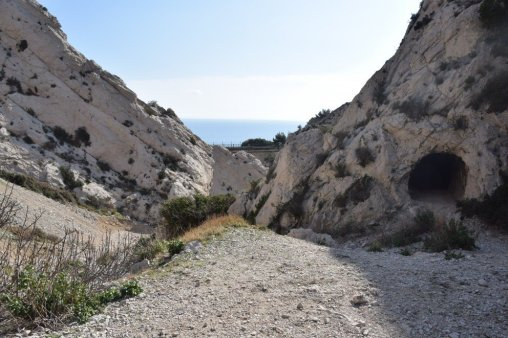 Provence's Blue Coast - stone tunnel