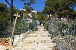 Provence's Blue Coast - scary steep steps
