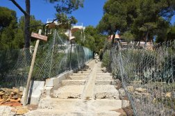 Provence's Blue Coast - scary steep steps