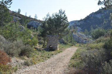 Provence's Côte Bleue - past the stone hut