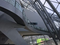 Modern architecture design at the Confluence Museum in Lyon