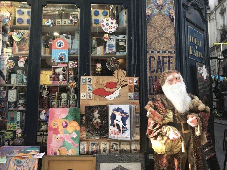 Parisian Holiday Season - Christmas storefront