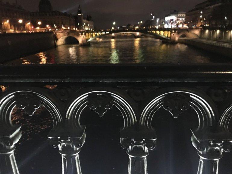 Parisian Holiday Season - reflections over the Seine