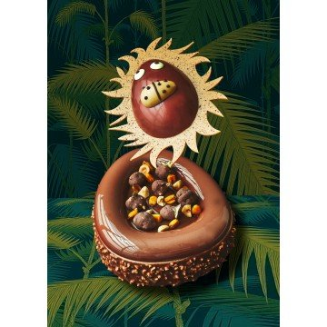 Joyeuses Pacques - Happy Easter - Chocolate Lion