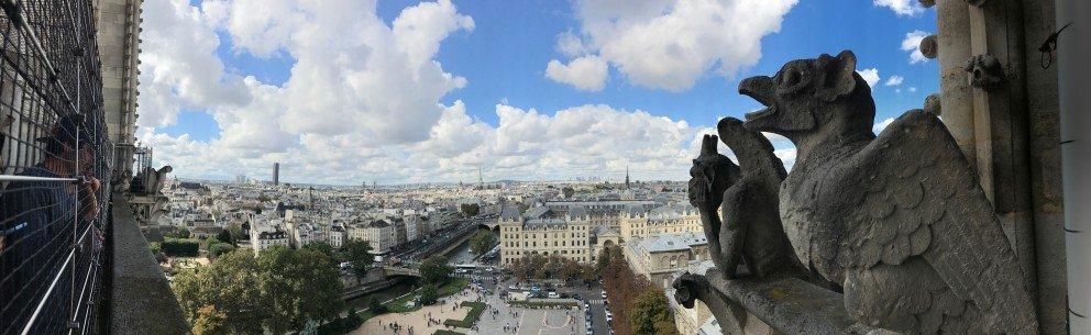 Honoring Notre-Dame-de-Paris - View of front courtyard