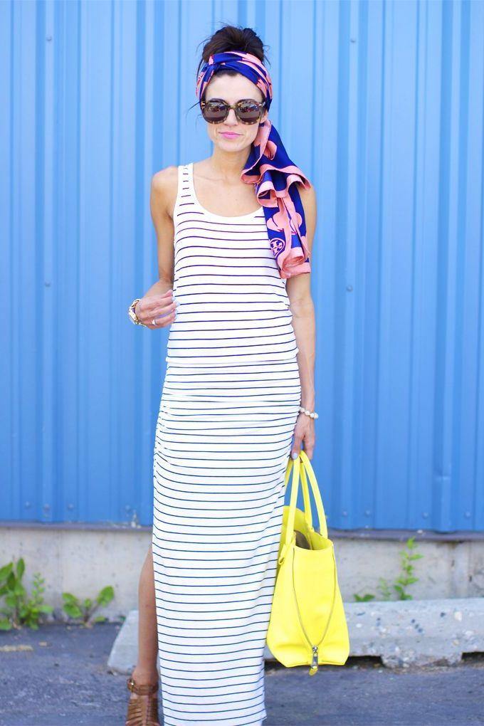 What to wear in Paris - long summer dress