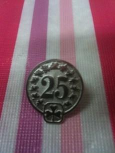 Sarah Lyons 25 Year Pin from Girl Guides