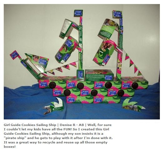 Girl Guide Cookies Sailing Ship by Denise R of AB
