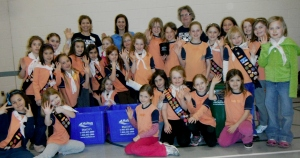 19th Oakville Brownies with Halton Recycles