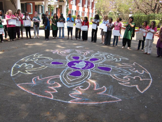 Mandala. YWLGF seminar. Sangam World Centre in India