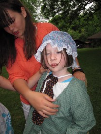 A pioneer dress-up relay game Megan Gilchrist