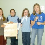 Bluebird Patrol (left to right) Lili, Kenzie, Kira, Amanda