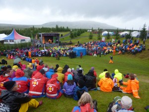 Opening ceremonies at the National Jamboree in Iceland