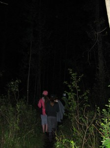 75th Edmonton Pathfinders on a night cache