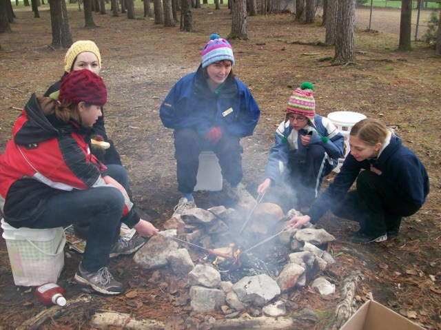 Outdoor Cooking at Kelso Beach, Owen Sound, 2010. Photographer Melody Vachon.