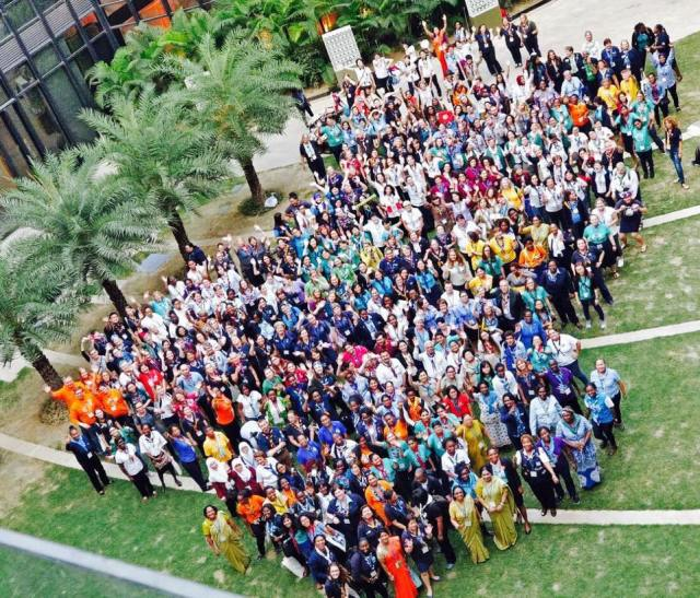 group photo of conference
