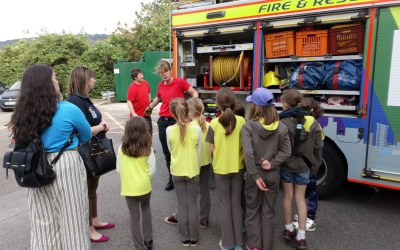 Brownies Visit Bath Fire Station