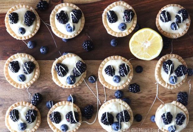 Lemon Cream Tarts with Berries