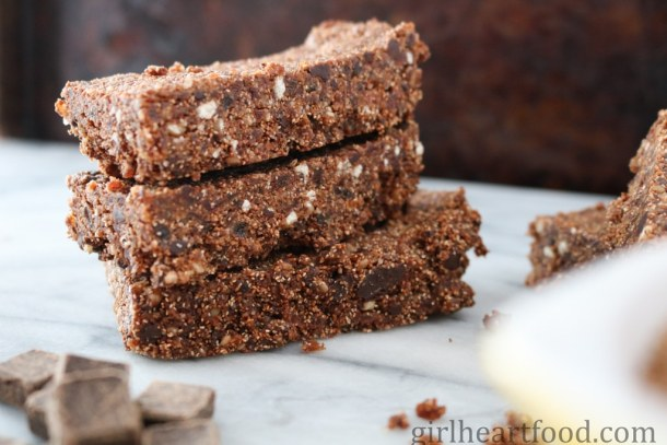 Teff Energy Bars {gluten free and whole grain} - girlheartfood.com