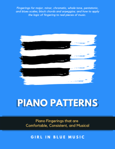 Book Cover: Piano Patterns: Fingerings for Scales, Chords, and Arpeggios