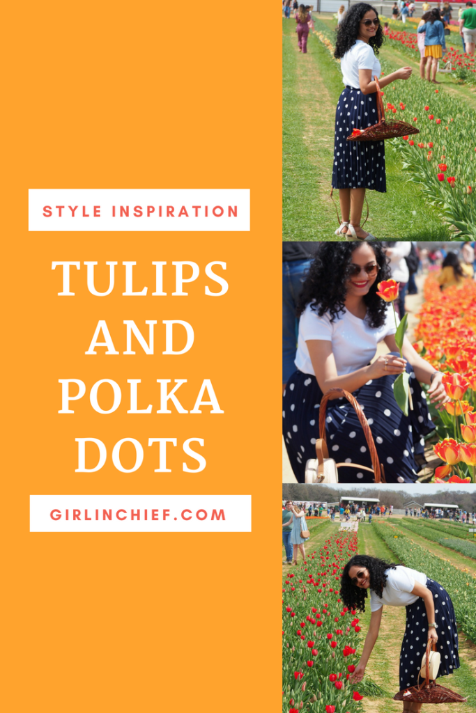 Spring-Summer Style: Tulips and Polka Dots #style #fashion #spring #summer #styleinspiration #polkadots #howtowearpolkadots #summerstyle #polkadotskirt