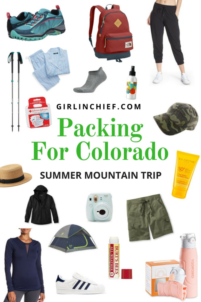 Packing List for Summer Mountain Trip to Colorado #Travel #Colorado #summertravel #packingforcolorado #packinglist